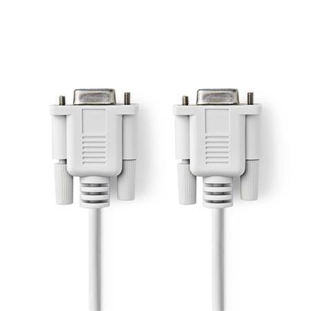 Nedis CCGP52055IV20 - Kabel Null Modem   D-Sub 9-pin Zásuvka - D-Sub 9-pin Zásuvka   2 m   Slonovinová