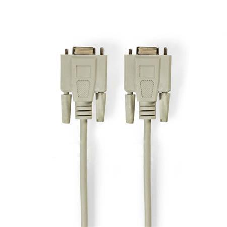 Nedis CCGP52057IV30 - Kabel Null Modem   D-Sub 9-pin Zásuvka - D-Sub 9-pin Zásuvka   3 m   Slonovinová