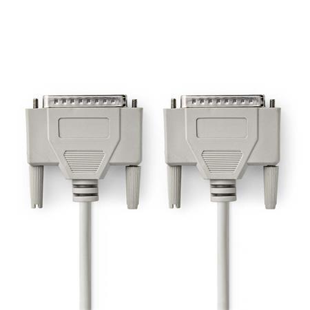 Nedis CCGP52100IV20 - Kabel RS232   D-Sub 25-pin Zástrčka - D-Sub 25-pin Zástrčka   2 m   Slonovinová