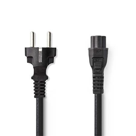 Nedis CEGP10130BK20 - Napájecí Kabel | Schuko Zástrčka - IEC-320-C5 | 2 m | Černá barva