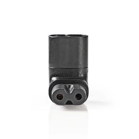 Nedis PCGP11912BK - Napájecí konektor   IEC-320-C7 zásuvka – IEC320-C8 zástrčka v levém/pravém úhlu   Černá barva