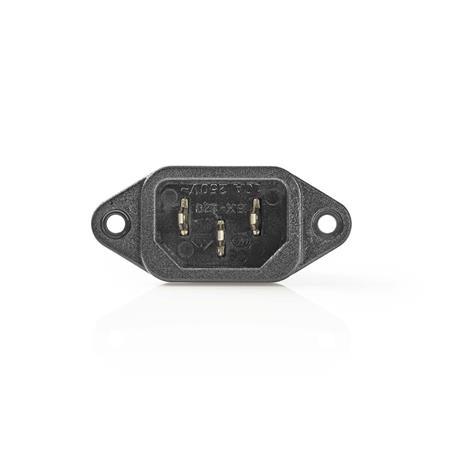 Nedis PCGP11950B - Napájecí Zástrčka   IEC-320-C14 zástrčka   Černá barva