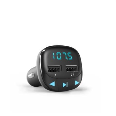 ENERGY Car Transmitter FM Black, 2x USB, microSD, 7-segmentový LED displej