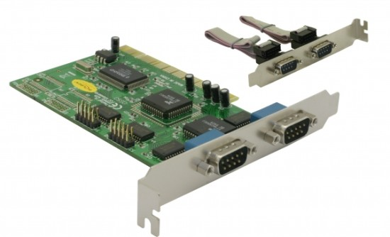 Delock adaptér PCI 4x sériový port