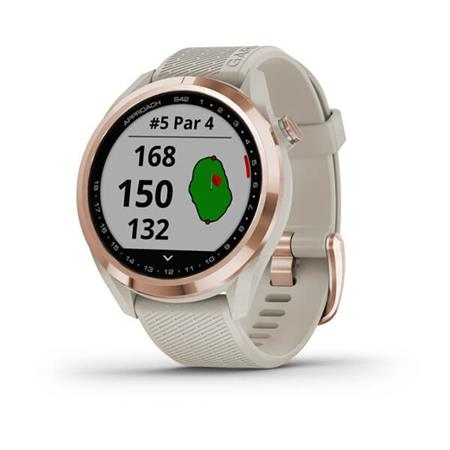 Garmin Approach S42 Rose Gold/Light Sand Silicone band