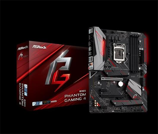 ASROCK MB B365 PHANTOM GAMING 4 (intel 1151v2 coffee lake, 4xDDR4 2666MHz, HDMI +Dport, USB3.1, 6xSATA3 + 2xM.2, 7.1, GLAN, ATX)