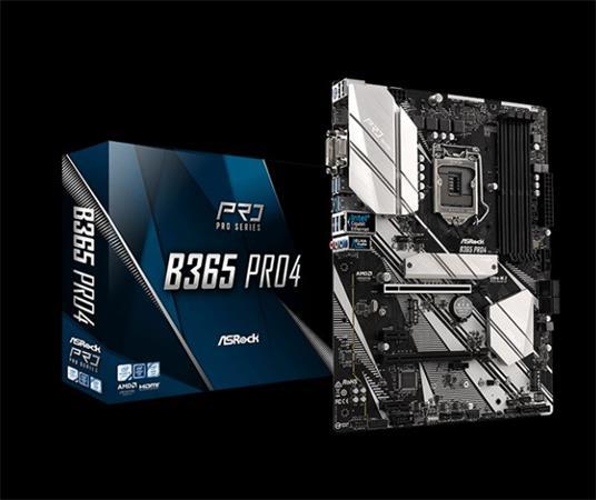 ASROCK MB B365 PRO4 (intel 1151v2 coffee lake, 4xDDR4 2666MHz, VGA+DVI +HDMI, USB3.1, 6xSATA3 + 2xM.2, 7.1, GLAN, ATX)