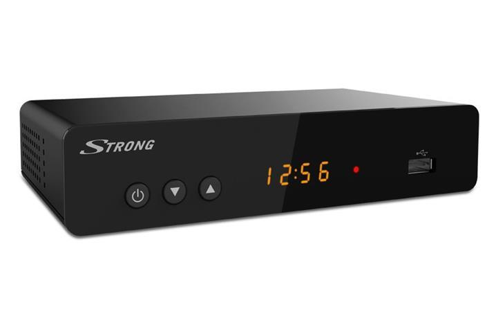 STRONG DVB-T/T2 přijímač SRT 8222/ Full HD/ H.265/HEVC/ twin tuner/ PVR/ EPG/ USB/ HDMI/ LAN/ SCART/ černý