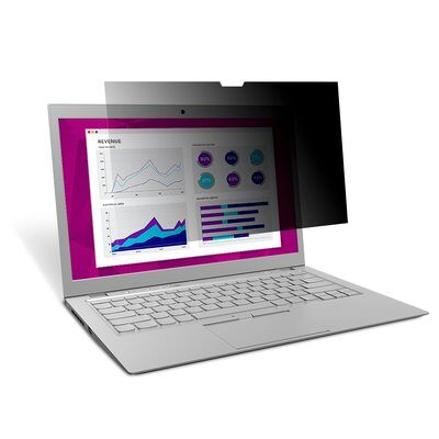 """3M™ High Clarity Privacy Filter for 15.6"""" Laptop with COMPLY™ Attachment System (HC156W9B) 16:9"""