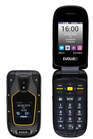 EVOLVEO StrongPhone F5, vyklápěcí vodotěsný odolný Dual SIM telefon