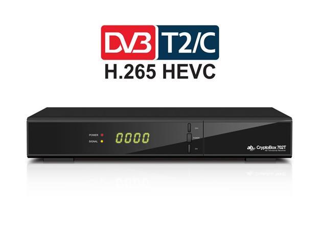 AB CryptoBox 702T HD /Full HD/ MPEG2/ MPEG4/ HEVC/ USB/ černý