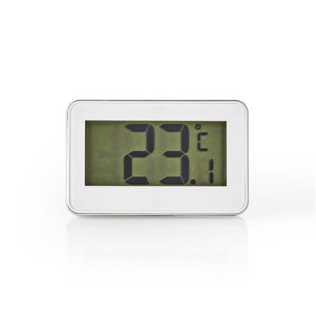 Nedis KATH101WT - Teploměr do Lednice   -20 až +50 °C   Digitální Displej
