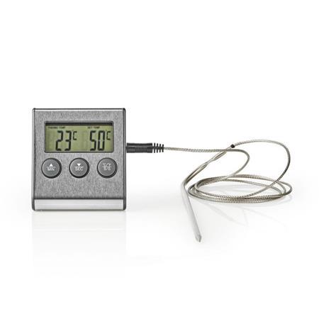 Nedis KATH104SS - Teploměr na Maso   0–250 °C   Digitální Displej   Časovač