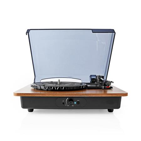 Nedis TURN200BN - Gramofon | 9 W | Bluetooth® | Kryt Proti Prachu | Hnědý