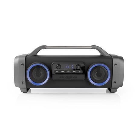 Nedis SPBB300BK - Párty Přehrávač | Výdrž Baterie 3 Hodiny | Bluetooth® Bezdrátová Technologie | FM Rádio | Světelné Efekty | Čern
