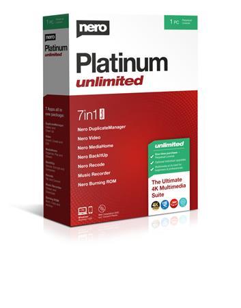 Nero Platinum Unlimited  - CZ - trvalá licence - 7 programů v 1 - elektronicky