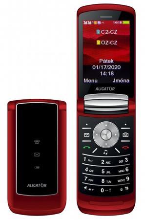 ALIGATOR DV800 červený Dual Sim