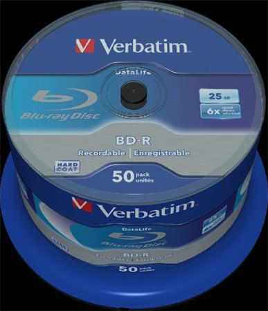 VERBATIM BD-R SL DataLife 25GB, 6x, spindle 50 ks