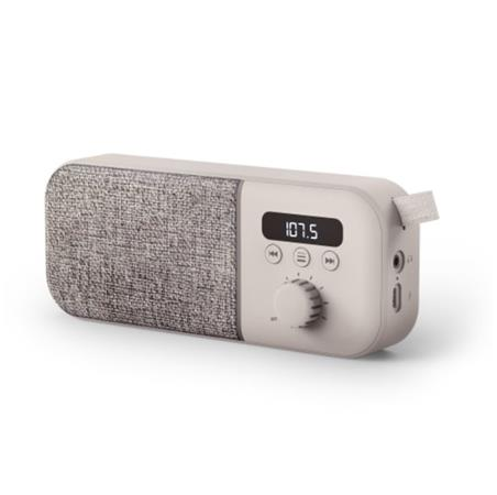 ENERGY Fabric Box Radio Cream, trendy přenosné rádio s PLL tunerem