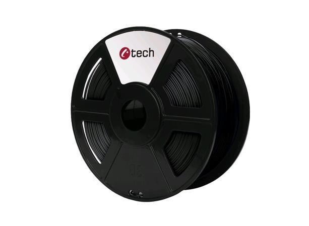 C-TECH tisková struna ( filament ) , ASA, 1,75mm, 1kg, černá