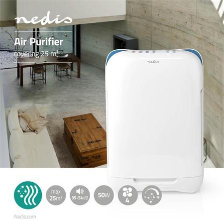 Nedis AIPU200CWT - Čistič Vzduchu   25 m2   35–54 dB   Indikátor Kvality Vzduchu