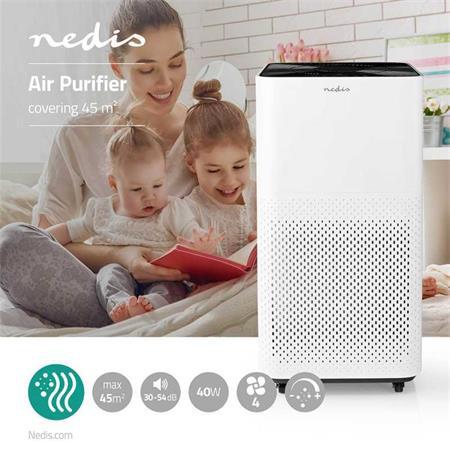 Nedis AIPU300CWT - Čistič Vzduchu   45 m2   30–54 dB   Indikátor Kvality Vzduchu
