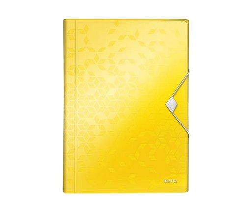 Aktovka s přihrádkami Leitz WOW, PP, žlutá
