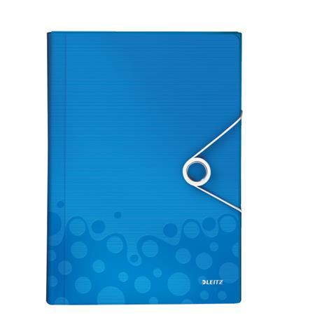 Aktovka s přihrádkami Leitz WOW, PP, modrá