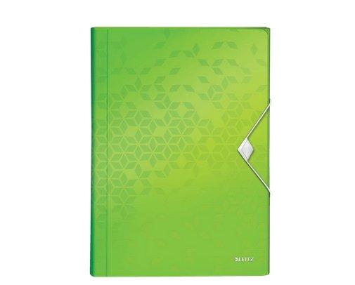 Aktovka s přihrádkami Leitz WOW, PP, zelená