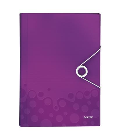 Aktovka s přihrádkami Leitz WOW, PP, purpurová