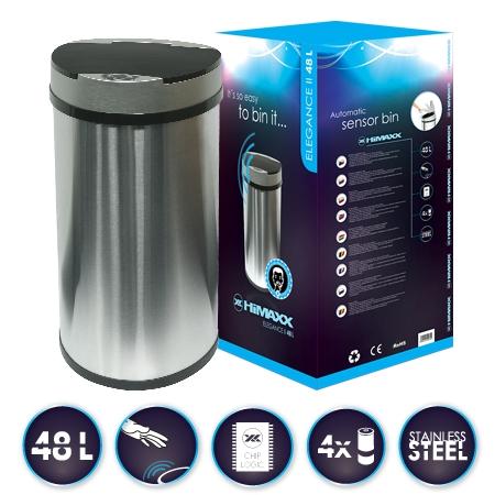 HiMAXX senzorový odpadkový koš Elegance II 48L + baterie ZDARMA