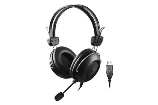 A4tech HU-35 sluchátka, USB, černá barva