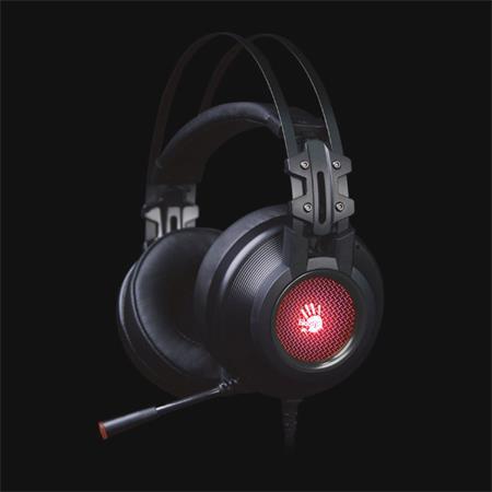 A4tech Bloody G525 herní sluchátka s mikrofonem, 7.1, USB, podsvícené, šedá