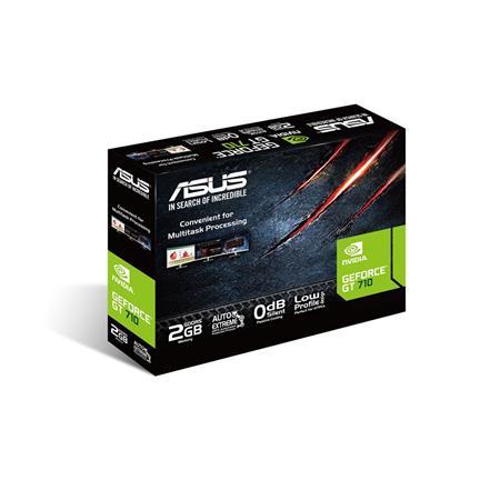 ASUS GT710-SL-2GD5 BRK - 2GB GDDR5 (32 bit), HDMI, DVI, D-SUB