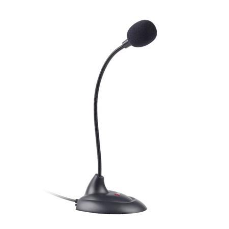 """C-TECH Stolní mikrofon MIC-04E, 3,5""""mm stereo jack, kabel 1,5m"""
