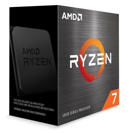 AMD cpu Ryzen 7 5800X AM4 Box (8core, 16x vlákno, 3.8GHz / 4.7GHz, 32MB cache, 105W), bez chladiče