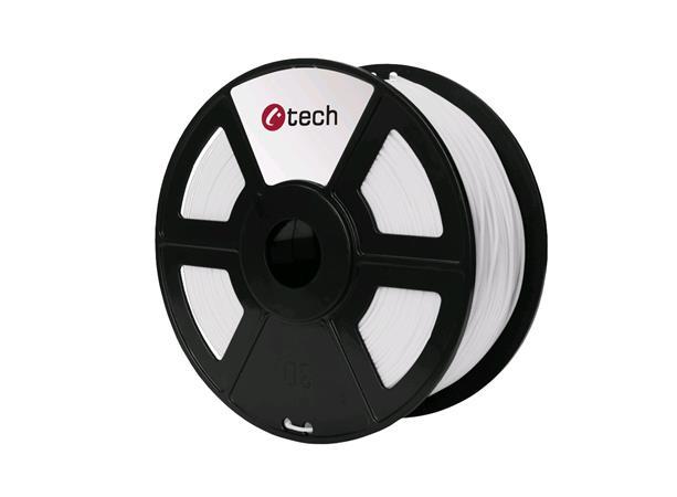 C-TECH tisková struna ( filament ) , HIPS, 1,75mm, 1kg, bílá