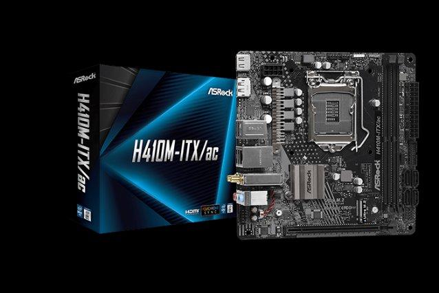 ASROCK H410M-ITX/AC (intel 1200, 2xDDR4 2933MHz, 4xSATA3, HDMI+DPOrt, 1xGLAN, WIFI, mini-ITX