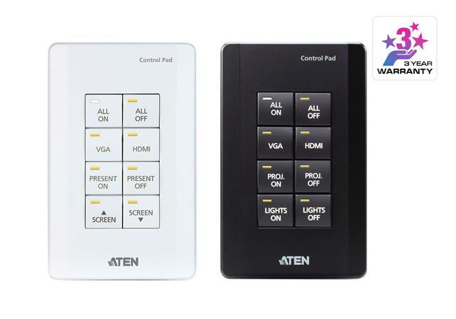 Aten 8-button Control Pad (US, 1 Gang)-Black