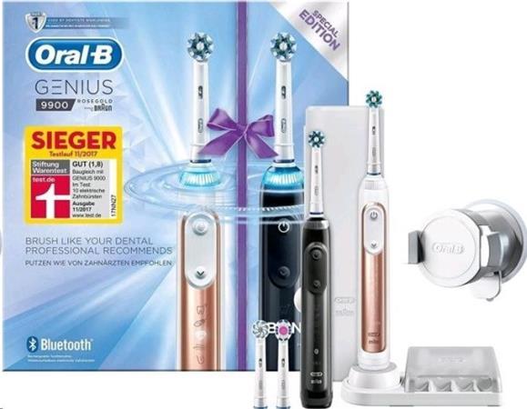 Braun Oral-B Toothbrush Genius 9900 black & rosegold