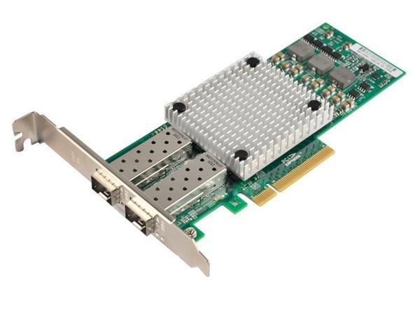 XtendLan XL-ENW-9842 íťová karta, PCI-E x8, 10Gbps, 2x SFP+, Broadcom BCM57810S, funkční s Mikrotik, low profile