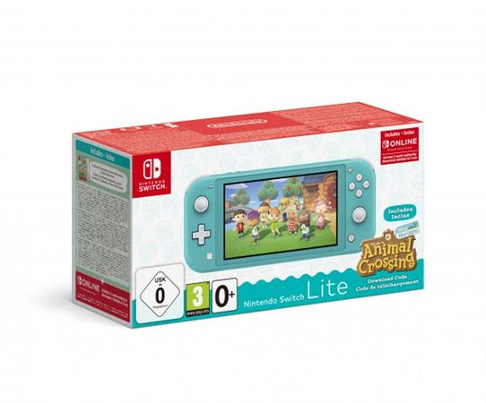 Nintendo Switch Lite Turquoise + ACNH + NSO 3month