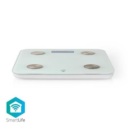 Nedis WIFIHS10WT - SmartLife Osobní Váha | Wi-Fi | BMR / Hmotnost / Kosti / Svaly / Tuk / Voda | 8 Paměťových Slotů | Špičkové zat