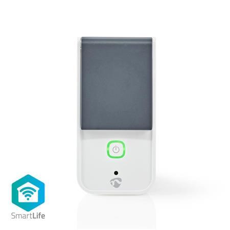 Nedis WIFIPO120EWT - SmartLife Chytrá Zásuvka   Wi-Fi   IP44   Měřič spotřeby   3680 W   Francie / Typ E (CEE 7/6)   -30 - 40 °C  