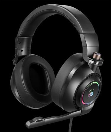 A4tech Bloody G580 herní sluchátka s mikrofonem, 7.1 Virtual, RGB podsvícení, USB