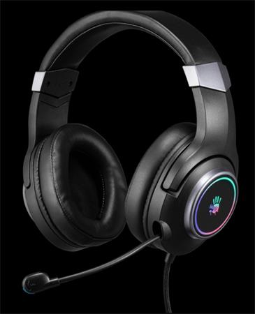 A4tech Bloody G350 herní sluchátka s mikrofonem, 7.1 Virtual, 7 barev podsvícení, USB