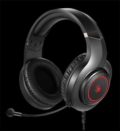 A4tech Bloody G220, herní sluchátka s mikrofonem, 7 barev podsvícení, single jack + USB