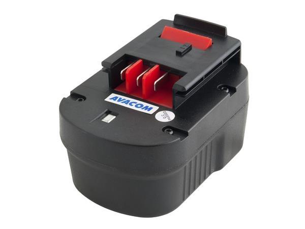 Náhradní baterie AVACOM BLACK & DECKER A1712 Ni-Mh 12V 3000mAh, články PANASONIC
