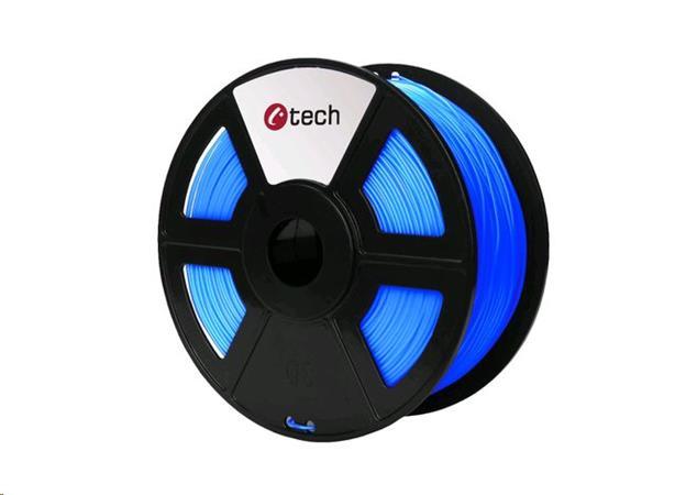 C-TECH tisková struna ( filament ) , ABS, 1,75mm, 1kg, fluorescenční modrá