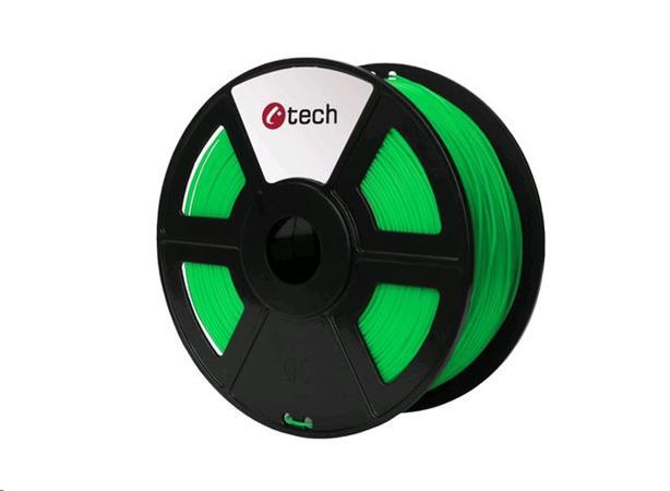 C-TECH tisková struna ( filament ) , ABS, 1,75mm, 1kg, fluorescenční zelená